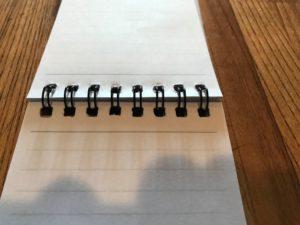 STUDIEUXのA7Wリングメモの用紙